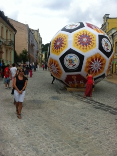 The big ball on Andryivsky Uzviz