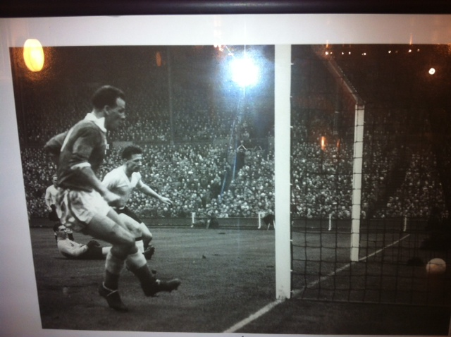 Charles scores v England at Wembley