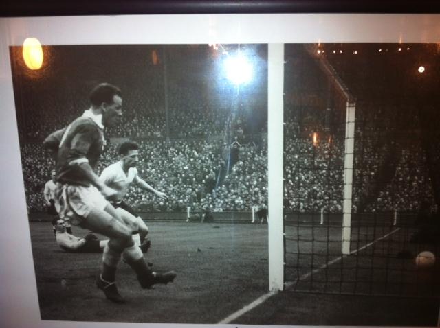 Charles scores v England at Wembley