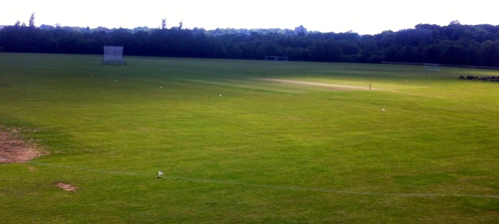 The view of the Llanrumney ground from the balcony