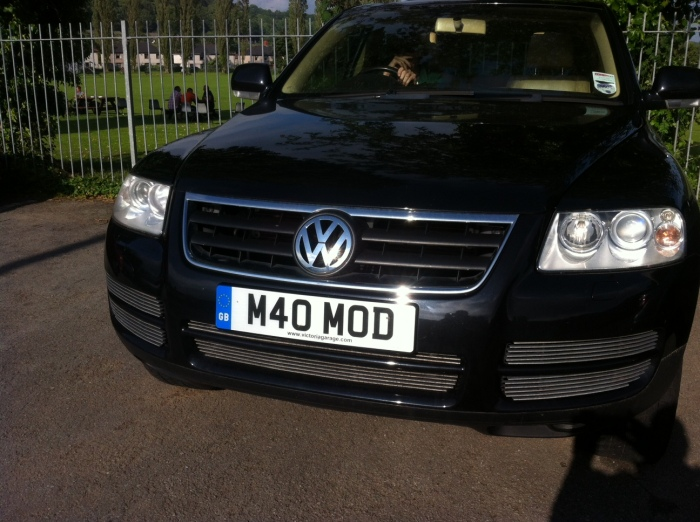 Yep, that's two players with personalised numberplates in two weeks. This the MODfather's.