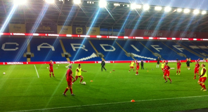 Wales warm up