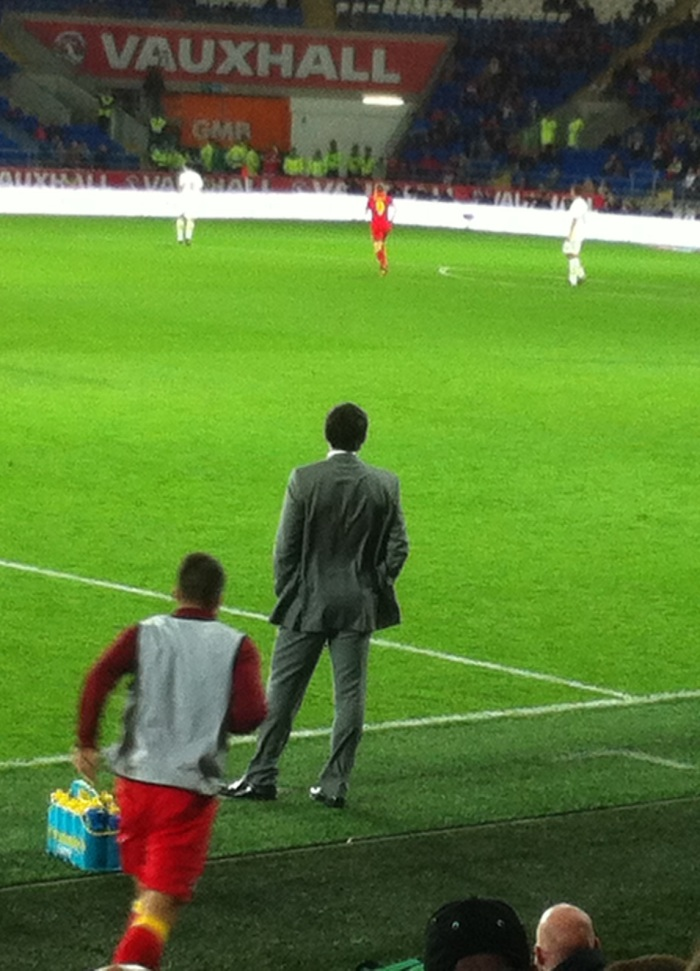 Cookie Monster prowls the touchline