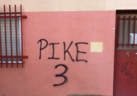 Graffito in Vallecas: a Chris Pike hat-trick is fondly remembered