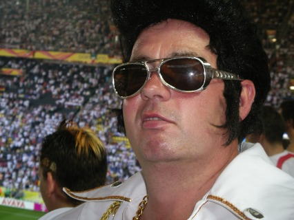 Elvis at Germany v Italy 2