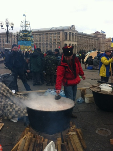 Soup-erman stirs the pot for the hungry horde