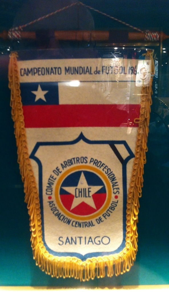 A pennant from the 1962 World Cup in Chile