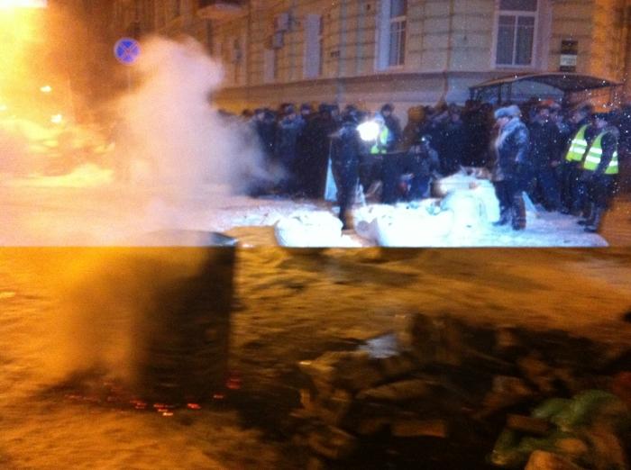 Police in Lutheranska, Kyiv