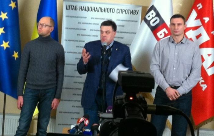 Yatsenyuk, Tyahnybok, Klitchko