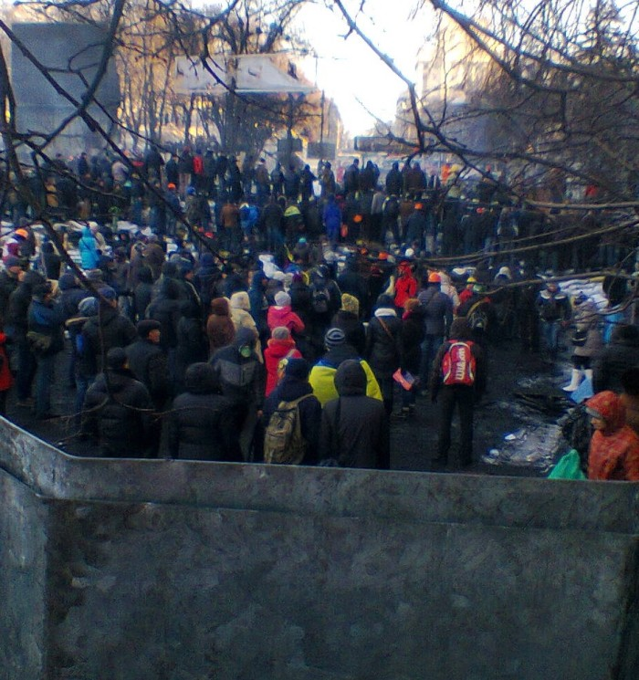 Protesters in Kyiv on Friday