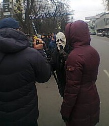 Grim Reaper at Euromaidan Revolution