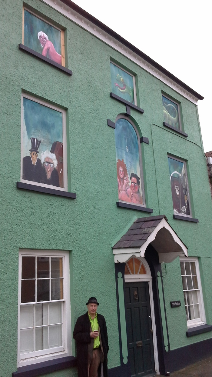 Martin Rowson in Laugharne