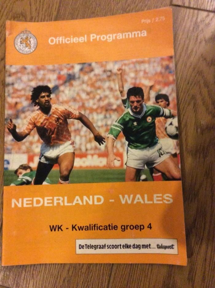HJolland v Wales 1988