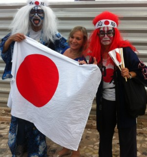 Japan fans at Brasil 2014