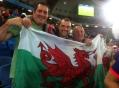 Welsh fans at Japan v Greece