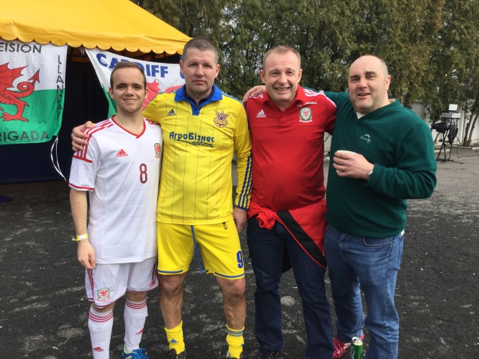 Oleg Salenko plays against Wales fans