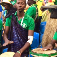 Senegal v Colombia vid and accordion knees-up, Kazan